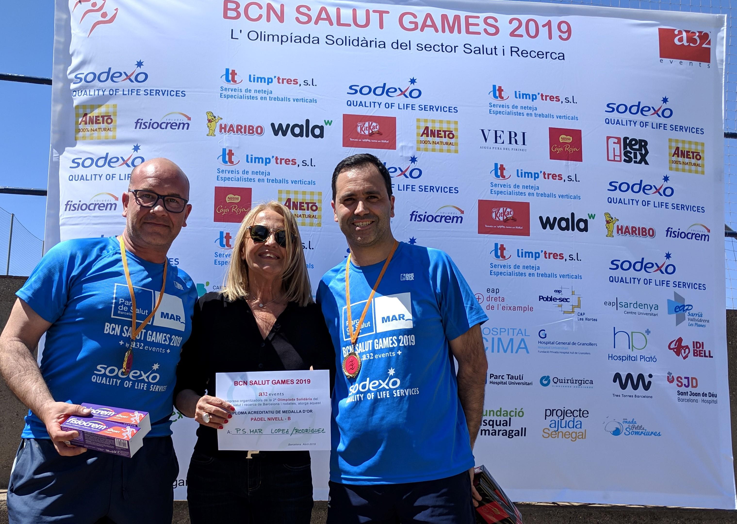 Campions Pàdel nivell B Parc Salut Mar 2019